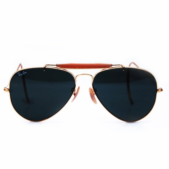 Vintage Ray Ban Sunglasses. Bausch and Lomb  Aviator Outdoorsman Sunglasses 58 mm
