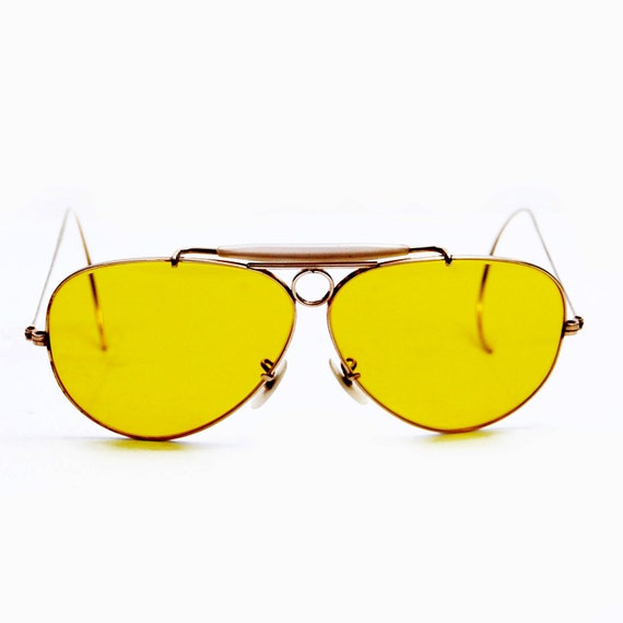 Vintage  Ray Ban Bausch and Lomb Gold Overlay Kalichrome Shooter  Sunglasses.