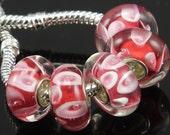 5 pcs set Murano Glass Bead Lampwork Charm Bead fit DIY European style Charm Bracelet  - A0008