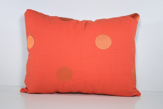 12 x 16 Pillow Cover - Coral Polka Dot