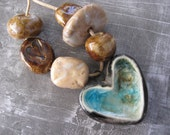 Ceramic Bead Set - Aqua Love