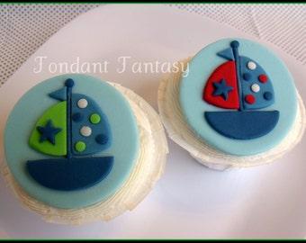 Sailboat Cupcake Topper