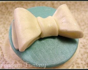 Sky Blue Bow Cupcake Topper