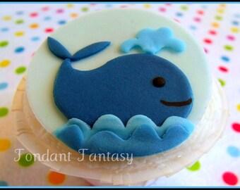 Whale Cupcake Topper
