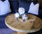 Weathered Wooden Spools for Coffee or Side Tables