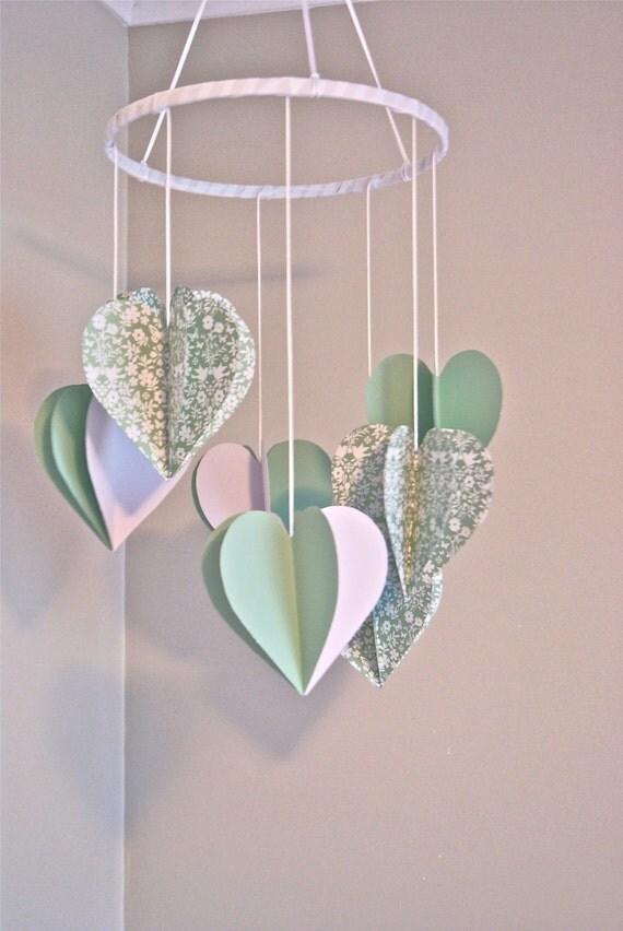 3D Paper Wedding Heart Mobile