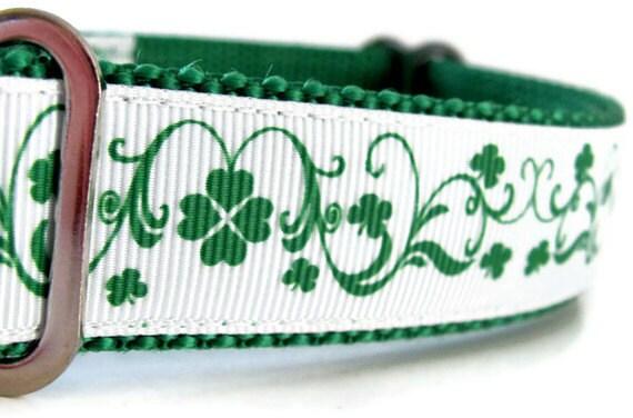St Patrick's Irish Dog Collar - St. Pattys Dog Collar - Irish Martingale - Irish Buckle Collar Last One!