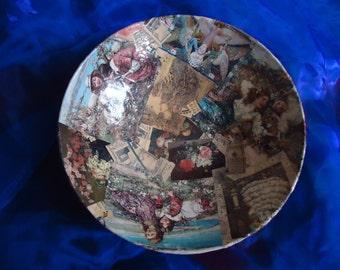 Original decoupage bowl