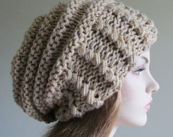 Bits & Bobbles : Simple Crochet Slouchy Beanie Pattern
