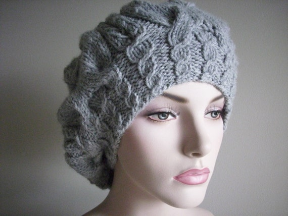 Slouchy Hats Oversize Berets Beanie Spring Accessories Grey  women girls Slouch