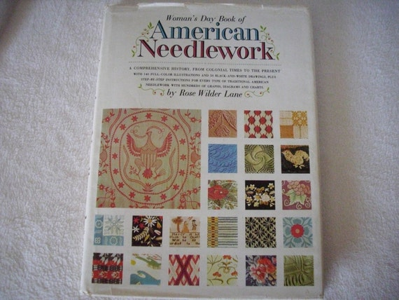 Vintage Book American Needlework 1963 Knitting Crochet Cross Stitch Embroidery Quilting Applique Patchwork Needlepoint Rugmaking