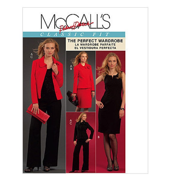 Sewing Pattern Jackets Dresses Pants Plus Sizes