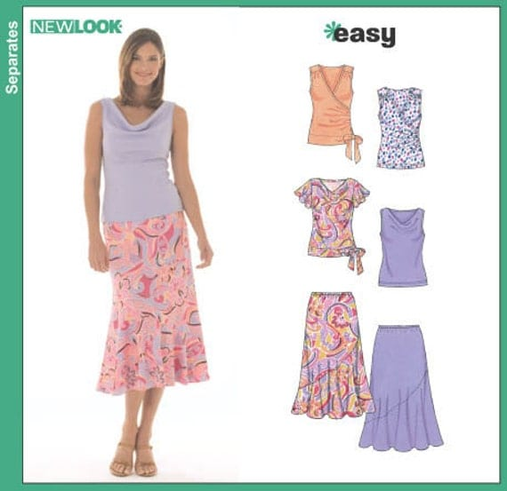 Sewing Pattern Summer Tops  Blouses Skirts Easy New Look 6470