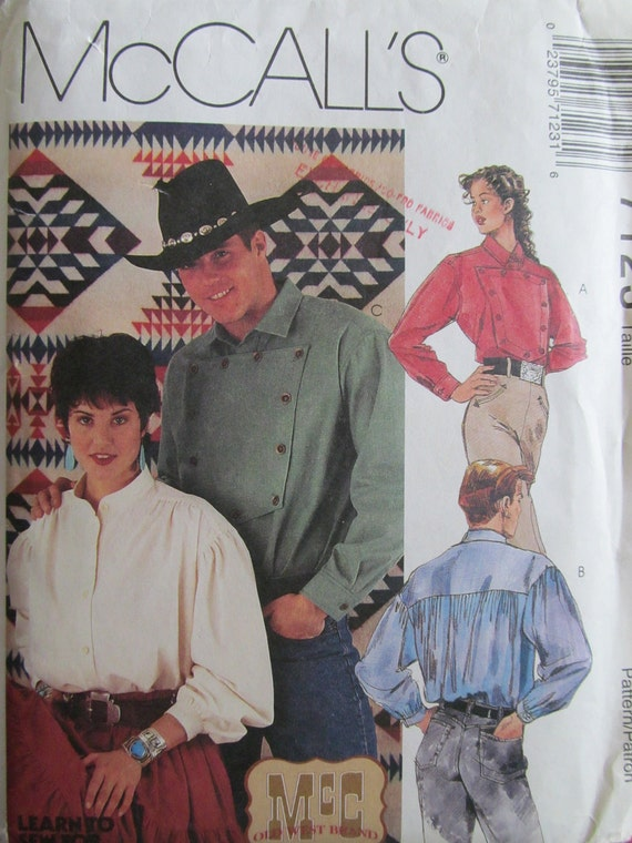 Sewing Patterns Womens Mens Shirts Blouses Tops McCall's Patterns 7123
