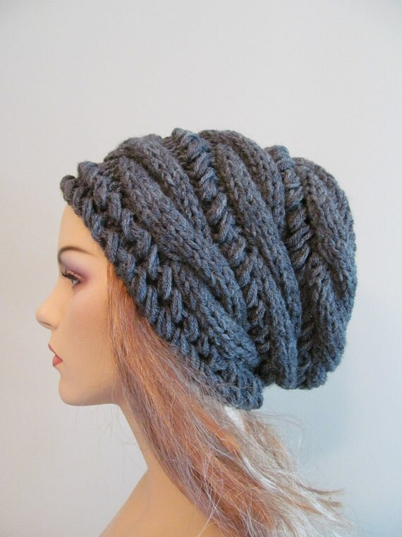 Slouchy Beanie Slouch Hats Oversized Baggy cabled hat by Lacywork