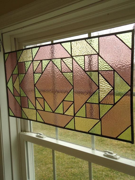 Stained Glass Transom Window Suncatcher Panel Indian Valance