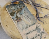 DIVINE MELODY inspirational angel bookmark, music bookmark with star charm