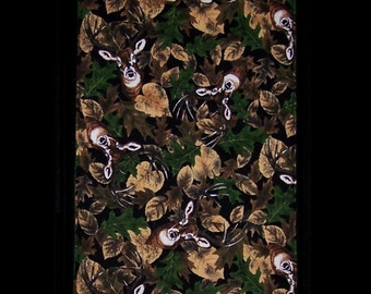 Burp Cloth Clever Deer features deer cleverly blending in with their surroundings. Great for the young hunter or the nature lover, BC036