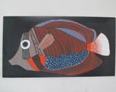 RESERVED - Mid Century Stoffdesign - Intair Finnish Wall Panel by Barbara Brenner - Finland
