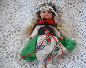 Vintage Doll  Dressed  In Switzerland Outfit  ECS