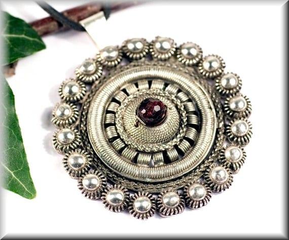 "Pendant ""freya"" made of 800er silver"