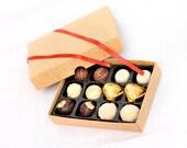 Selection of handmade chocolate truffles (12)