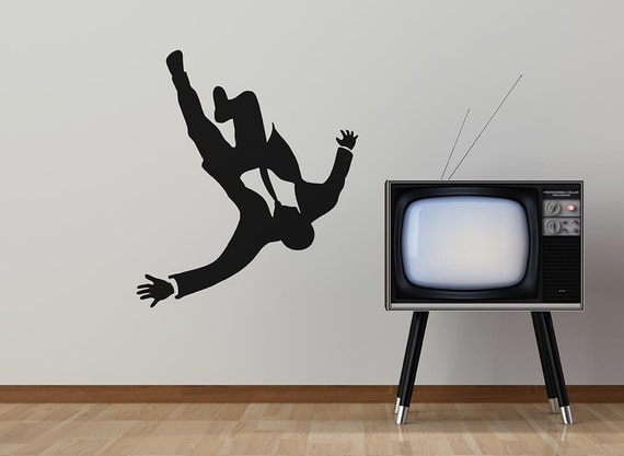 Mad Business Men Falling From The Sky Removable Vinyl Wall Art, don draper mad men madison ave mad man falling wall decal