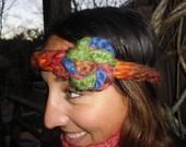 Finger Knitted Headband