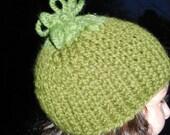 Loopy Green Beanie
