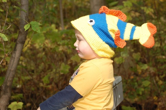 Items similar to crochet stinky dead fish hat too much for Stinky fish in a can