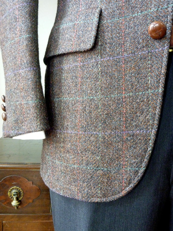 Vintage Brooks Brothers BROOKSGATE Multicolored Overcheck on Burgundy 36 S. Made in USA.