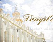 "LDS Temple Fine Art Print Saint George Utah ""I Love to See the Temple"" 11x14"