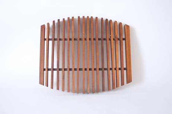 Mid Century Modern Teak Wood Trivet