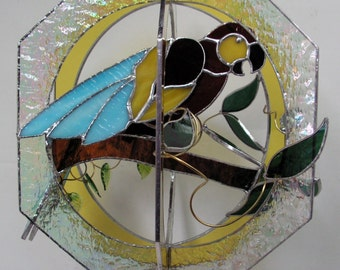 Mccaw Bird in Stained Glass Suncatcher Whirl