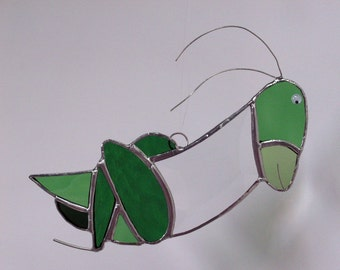 Grasshopper in Stained Glass With Bevel Body