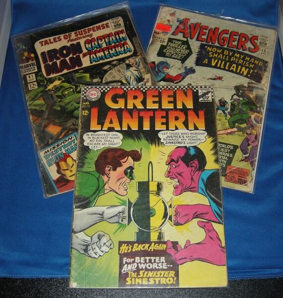 DC and Marvel Comics 1960's Grab Bag (3 comics - 1 Price)