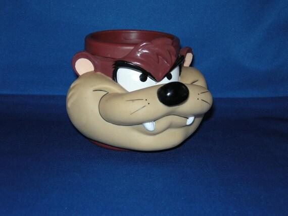 Tasmanian Devil 1992 3D plastic coffee cup