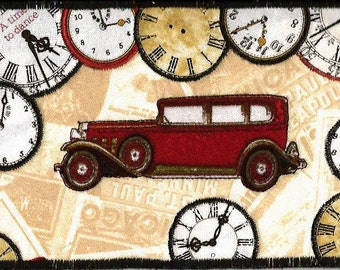 Pretty Time Traveler Fabric Postcard