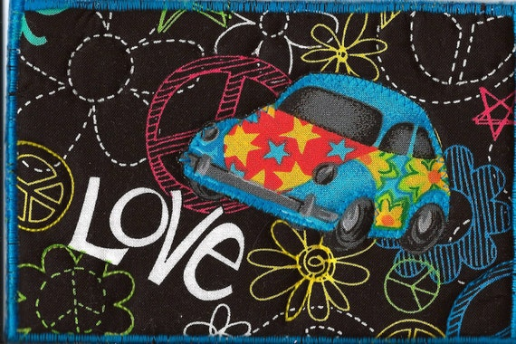Check out the Love Bug Fabric Postcard