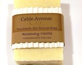 100% Olive Oil True Castile Handmade Hot Process Soap with Rosemary Essential Oil 4oz