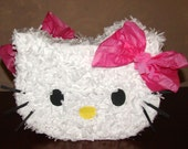 Hello Kitty Cat with pink Bow Birthday Party Pinata