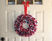 Reserved RWHALEN571 Large patriotic wreath
