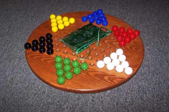 Large Size Chinese Checker Board with marbles and bag