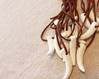Dragon Party Favors - Dragon or Dinosaur Clay Tooth Necklaces