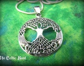 Sterling Silver Celtic Irish Tree of Life Necklace