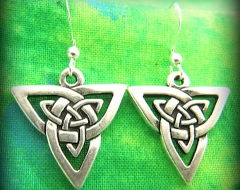 Sterling Silver Celtic Irish Trinity Knot Earrings