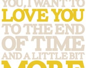 When I See You I Want To LOVE You art print, 11x14, mustard and tan, Hanson SMILE lyrics