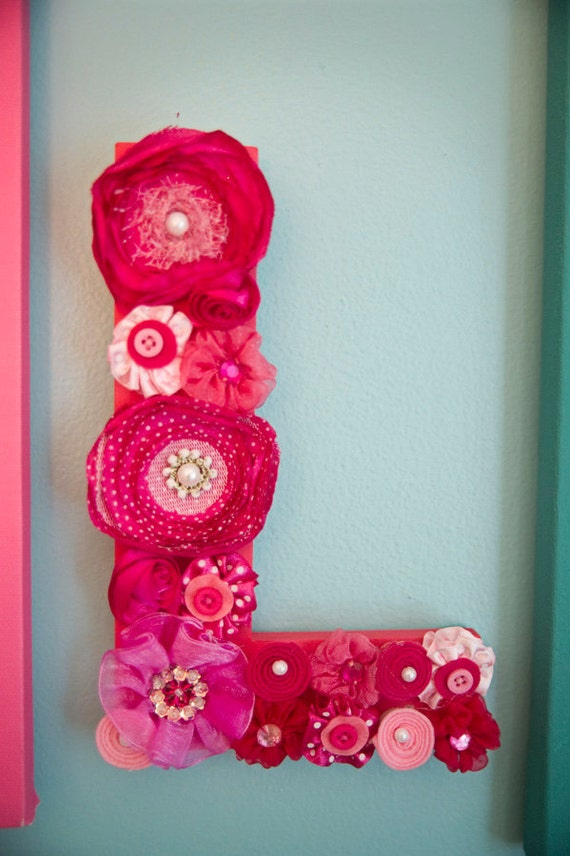 Custom flower Wall LETTER, choose from 4 colors