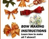 Wedding Bows DIY PDF Tutorial, Bow Making Instructions, Bow pdf Tutorial, DIY Wedding Bows