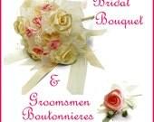 Bridal Bouquet Make it Yourself - Bridal Bouquet DIY - Bridal Bouquet Instructional Tutorial - Wedding DIY
